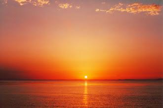 Photo: #018-Egypte. Coucher de soleil sur la mer Rouge