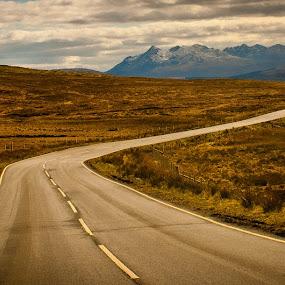 The Journey by Chris Boulton - Landscapes Mountains & Hills ( hills, scotland, national park, skye, nature, road, landscape, highlands, cairngorms )