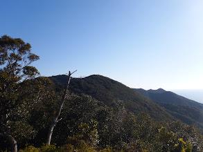 展望地から山頂を見る