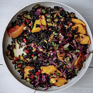 Black and Wild Rice Salad with Roasted Squash.