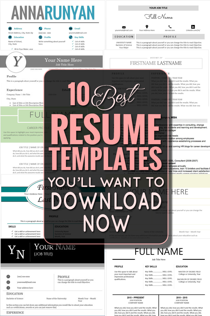 The 10 Best Resume Templates You\'ll Want to Download - Classy Career ...