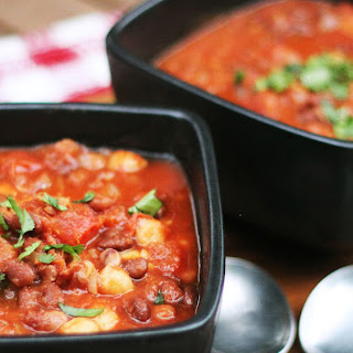 Three Bean Chili for a Crowd.