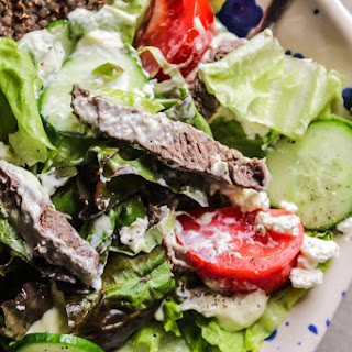 Creamy Steak and Goat Cheese Salad.