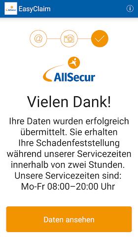 android EasyClaim AllSecur Screenshot 3