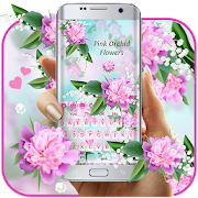 App Lovely Pink Orchid Flowers Keyboard APK for Windows Phone
