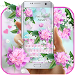 Lovely Pink Orchid Flowers Keyboard game APK