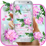 Lovely Pink Orchid Flowers Keyboard Icon