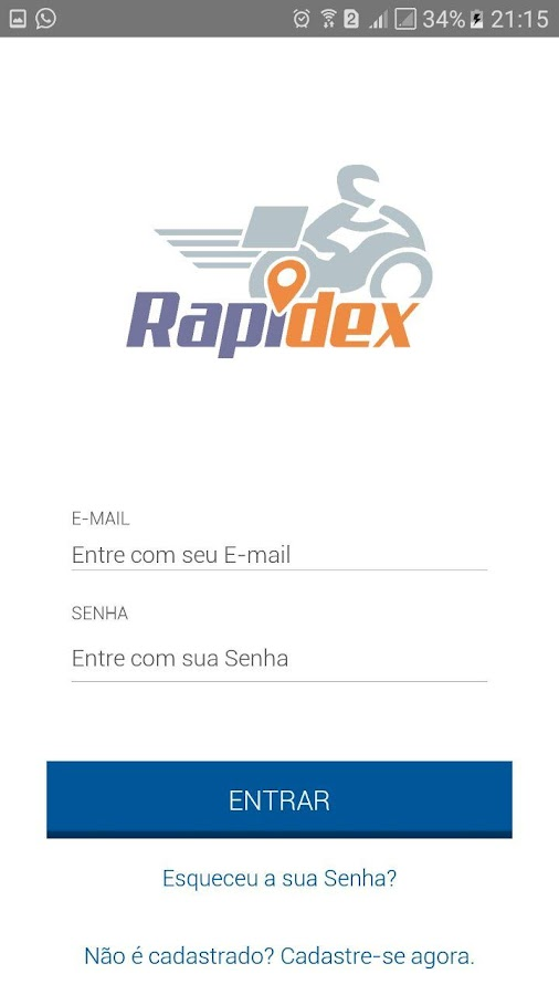 Rapidex: captura de tela