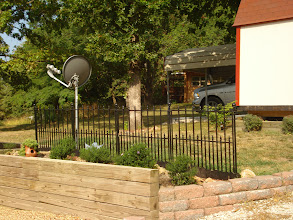Photo: Yard overlooking main road.