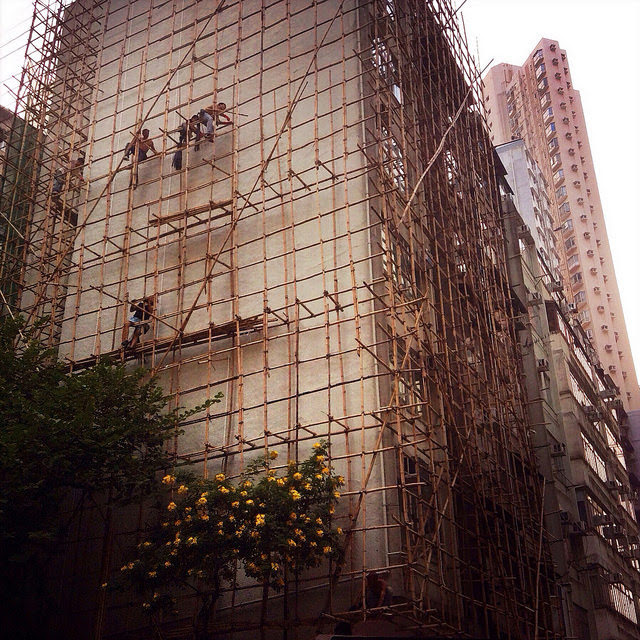 Hong Kong, Scaffold, Workers,  香港, 搭棚, 工人, scaffolding, bamboo