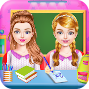 Game Twins Sisters Girls School First Day at Classroom APK for Windows Phone