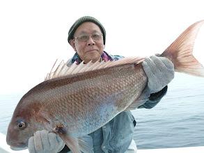 Photo: やりましたー! 自己記録更新です!81cm、7.3kgの真鯛でしたー!おめでとうございます!
