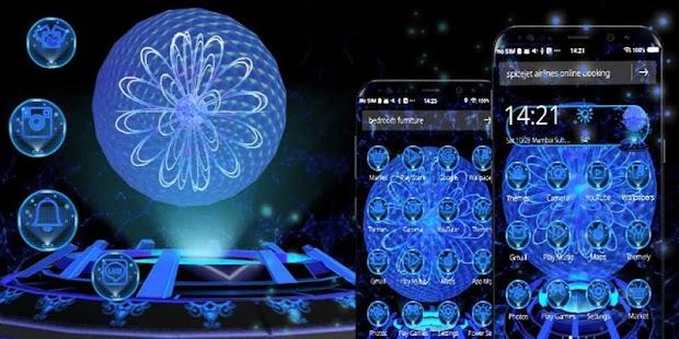 3D Atom Power Tech Boll Theme - náhled