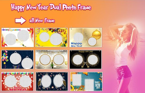 New Year Dual Photo Frame - náhled