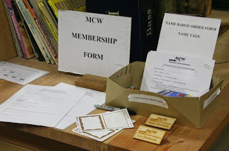Photo: We welcome new Members and offer a nice wooden name badge at a reasonable price.