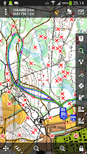 Photo: An orienteering map converted into a mobile map for Locus Map Pro