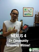 Photo: Our Nexus 4 Google+ Community giveaway happy with his new Nexus 4!