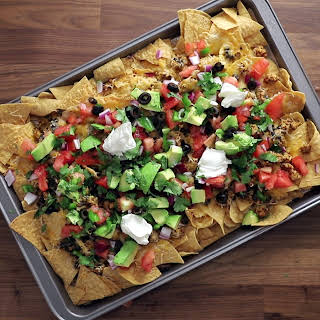 Loaded Chicken Nachos.
