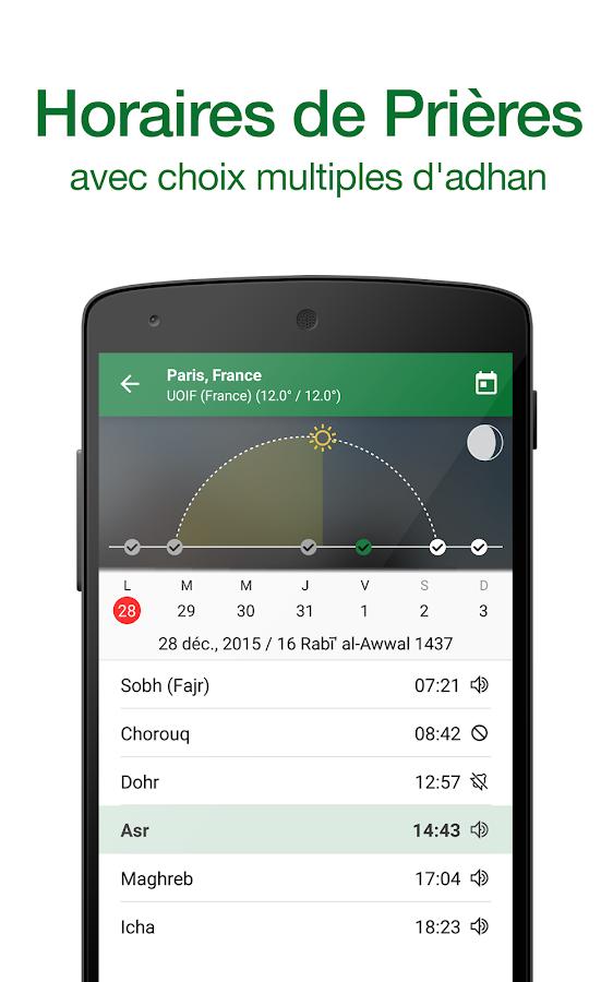 muslim pro horaire de pri 232 re adhan coran qibla applications android sur play