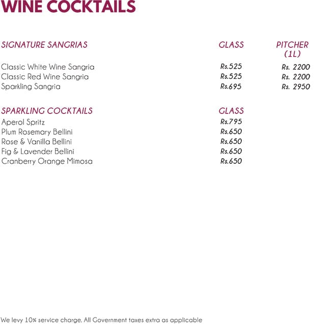 The Wine Rack menu 14