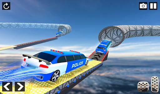 Police Limo Car Stunts - Mega Ramp Car Racing Game android2mod screenshots 9