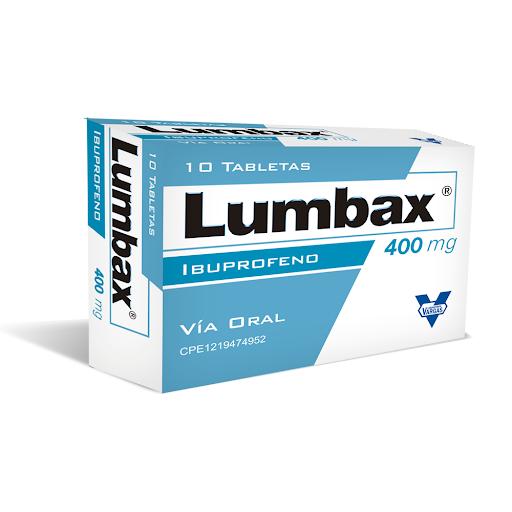 Ibuprofeno Lumbax 400mg x 10 Tabletas