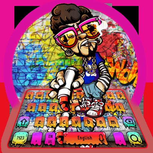 Posh Graffiti Style Keyboard Theme