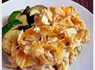 Cheese Tuna Casserole with Crumbled Potato Chips