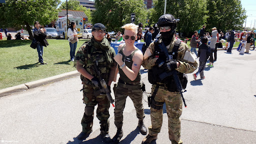 hanging with my US Army troops at anime north 2013 in Toronto, Ontario, Canada
