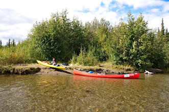 Photo: an der  Einmündung denSouth Big Salmon River wird es richtig warm