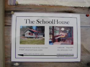 Photo: Information about renting the school house.