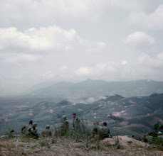 Photo: From LZ Peanuts looking west towards Co Roc with unknown 1/5 Cav infantry in foreground.