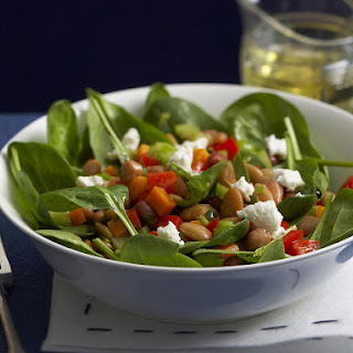 Warm Bean Salad with Goat Cheese