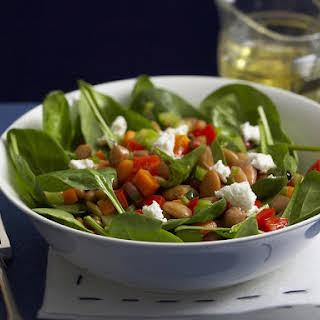 Warm Bean Salad with Goat Cheese.