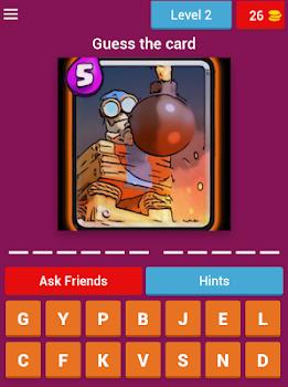 Quiz Clash Royale card