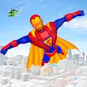 Flying Superhero Robot Games icon