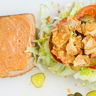 Turkey Sandwich with Pepper Jack, Barbecue Chips and Spicy Mayonnaise Recipe