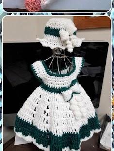Design háčkované dětské šaty - náhled