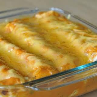 Cheesy Chicken Enchiladas.