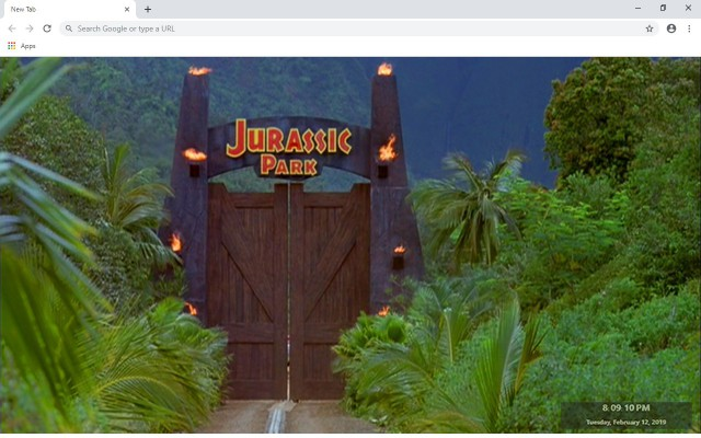 Jurassic Park New Tab & Wallpapers Collection