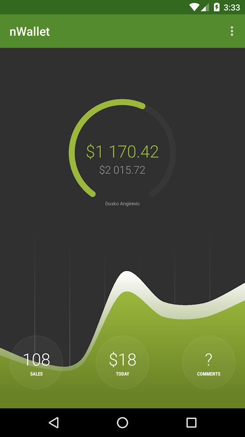 nWallet powered by Envato API- screenshot
