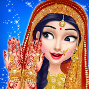 العروس الهندي أزياء الزفاف تحول
