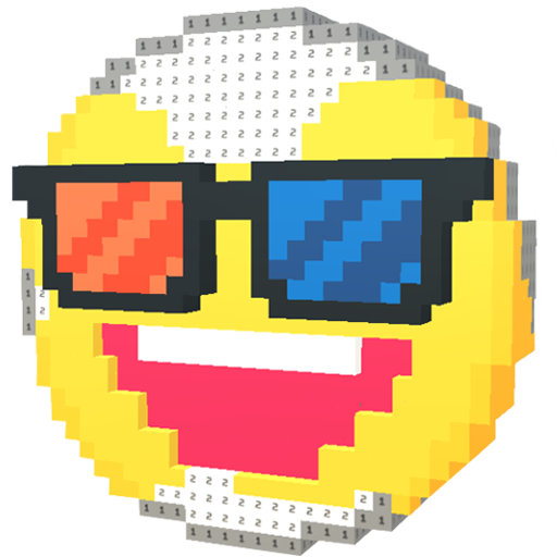 Pixel Art 3D: Coloring by Numbers with VOXEL