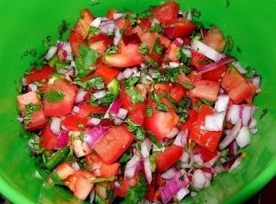 Prepare the pico de gallo:  Dice the tomatoes, onion, and jalapeno pepper. ...