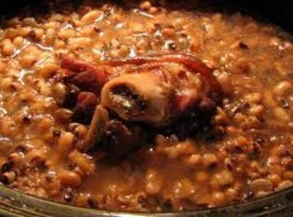 Blackeyed Peas With Ham Bone Or Ham Hock Recipe Just A Pinch