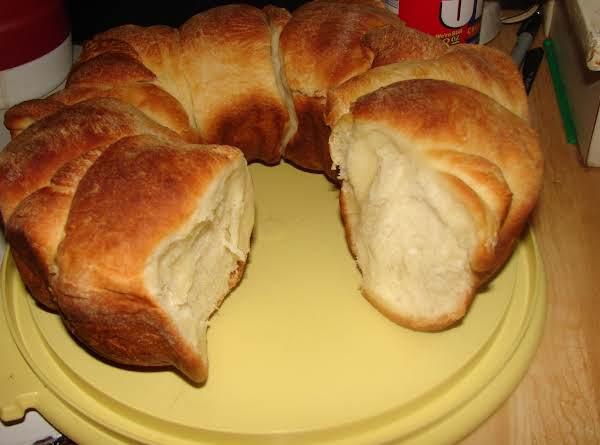 Parker House Rolls Baked In A Bundt Pan