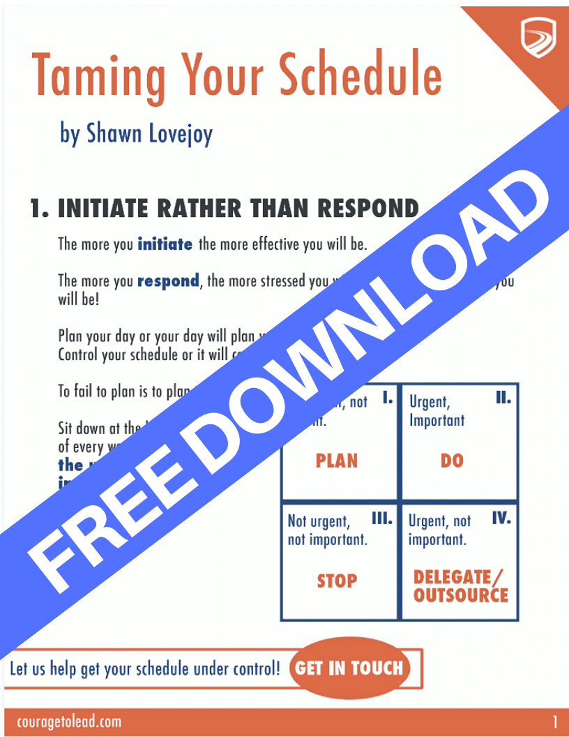 Free Download - Taming Your Schedule