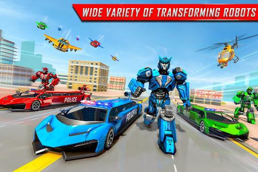Flying Limo Robot Car Transform: Police Robot Game 1.0.7 screenshots 1