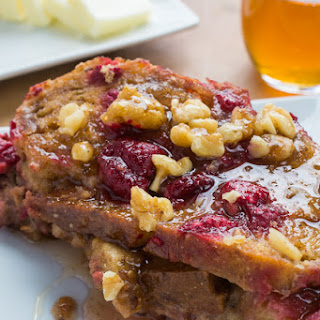 Apple Raspberry French Toast Bake