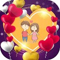 Romantic love photo frames icon